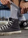 Stripes Grey&White