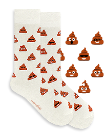 Happy Brownie Poo Socks