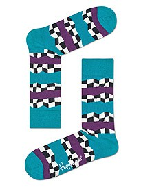 Happy Socks Checkered Stripe