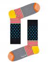 Happy Socks Stripe And Dot Sock