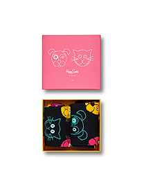 Happy Socks Cat vs. Dog Gift Box