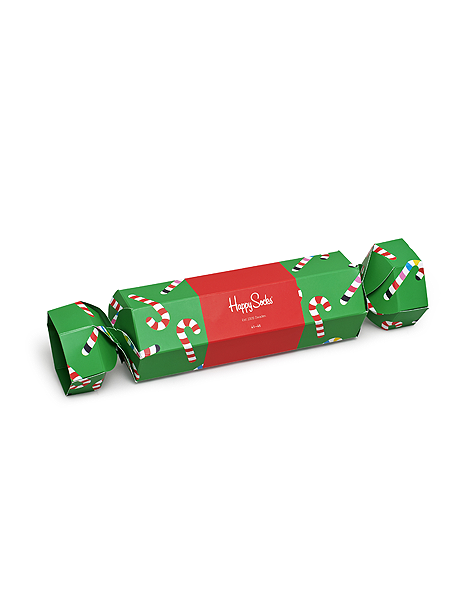 Happy Socks Candy Cane Cracker New